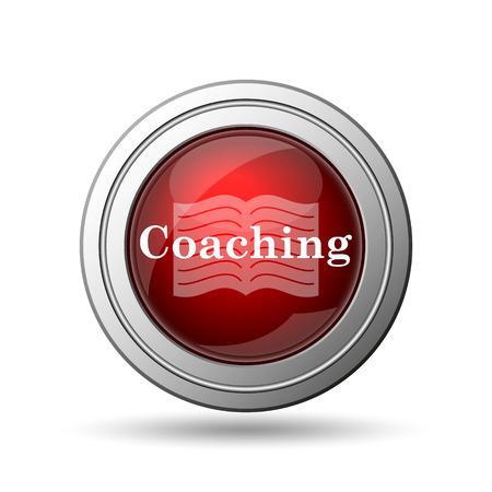 Coaching icon. Internet button on white background.  photo