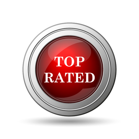 rated: Top rated  icon. Internet button on white background.  Stock Photo