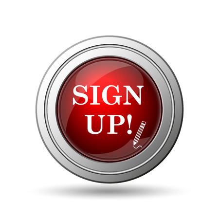 sign up icon: Sign up icon. Internet button on white background.  Stock Photo