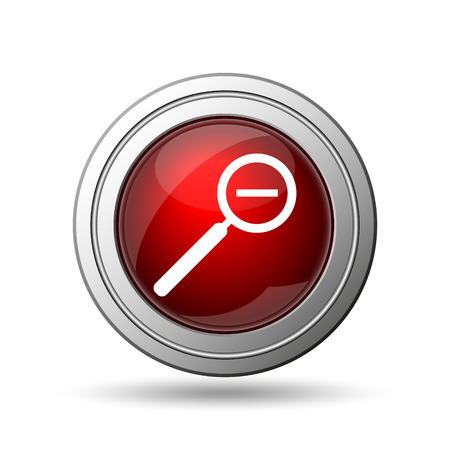 Zoom out icon. Internet button on white background.  photo
