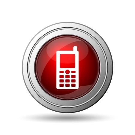 Mobile phone icon. Internet button on white background.  photo