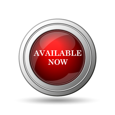 Available now icon. Internet button on white background.  photo