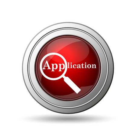became: Application icon. Internet button on white background.  Stock Photo