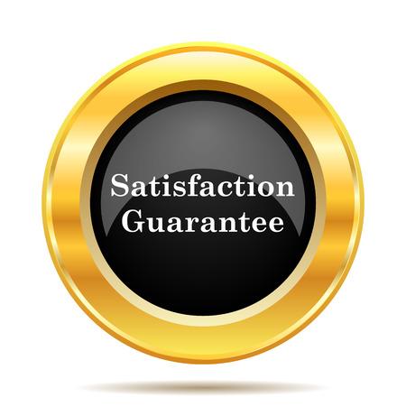 Satisfaction guarantee icon. Internet button on white background.  photo