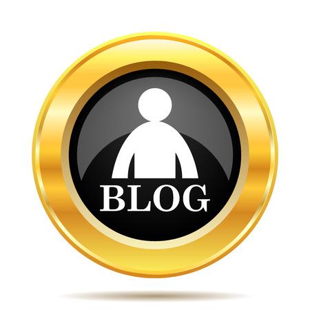 inform: Blog icon. Internet button on white background.