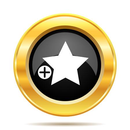 favoritos: A�adir a favoritos icono. Bot�n de Internet sobre fondo blanco.