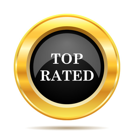 top class: Top rated  icon. Internet button on white background.  Stock Photo
