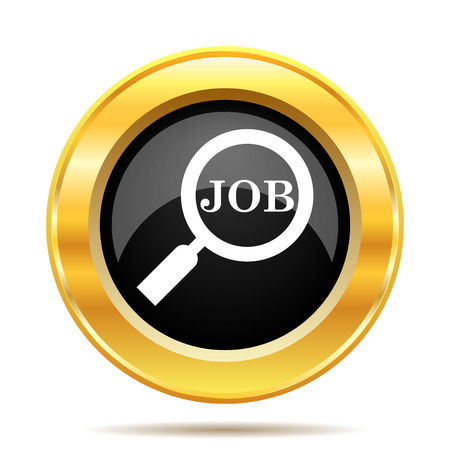 Search for job icon. Internet button on white background.  photo