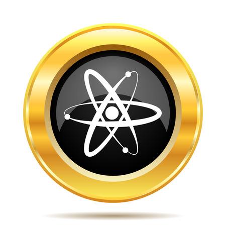 gamma radiation: Atoms icon. Internet button on white background.  Stock Photo