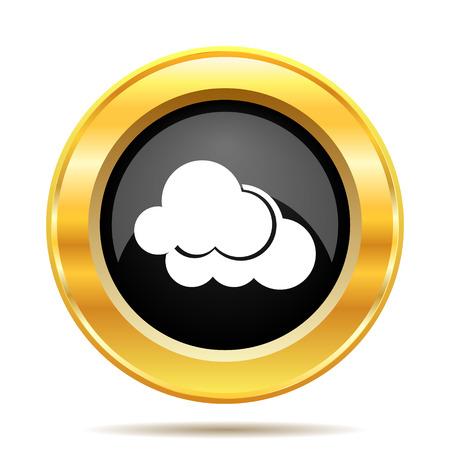 Clouds icon. Internet button on white background.  photo
