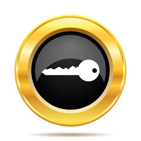 Key icon. Internet button on white background.  photo