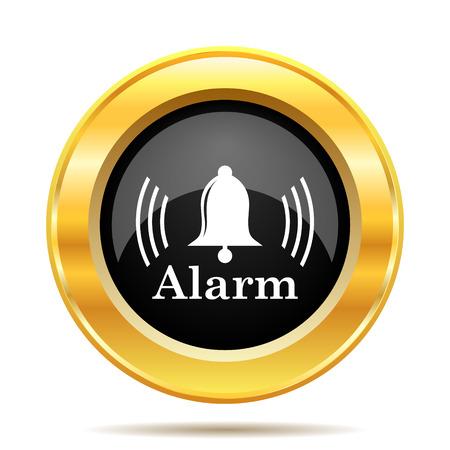 Alarm icon. Internet button on white background.  photo