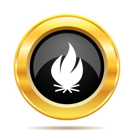 Fire icon. Internet button on white background.  photo