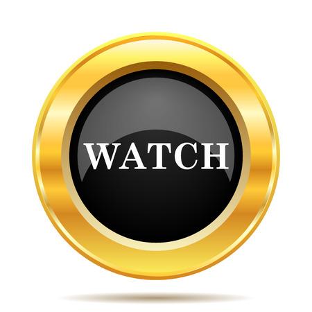 Watch icon. Internet button on white background.  photo
