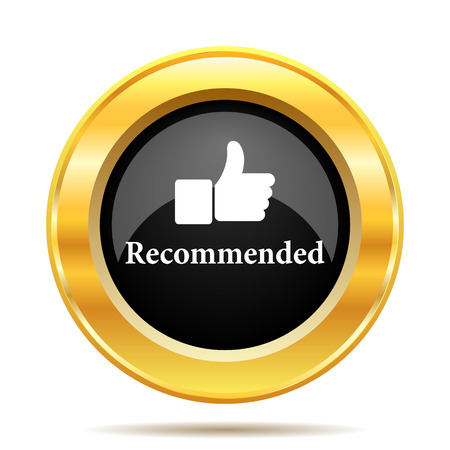 Recommended icon. Internet button on white background.  photo