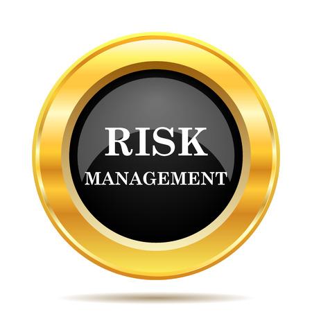 Risk management icon. Internet button on white background.  photo