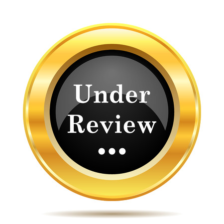 pending: Under review icon. Internet button on white background.