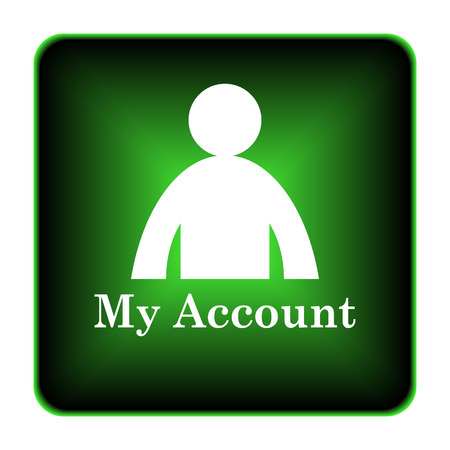 My account icon. Internet button on white background.  photo