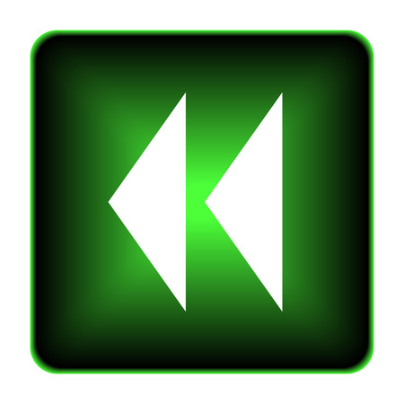 rewind: Rewind icon. Internet button on white background.