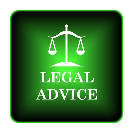 criminal act: Legal advice icon. Internet button on white background.  Stock Photo