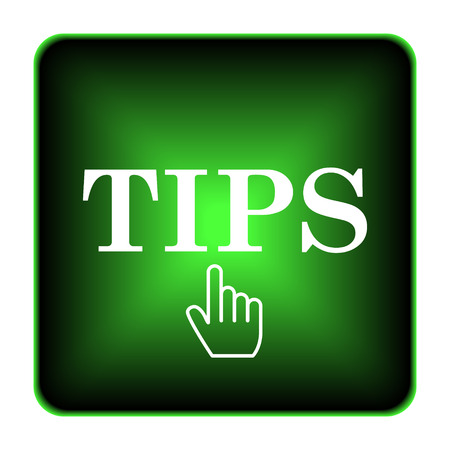 suggestion: Tips icon. Internet button on white background.