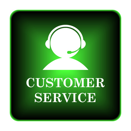 Customer service icon. Internet button on white background.  photo