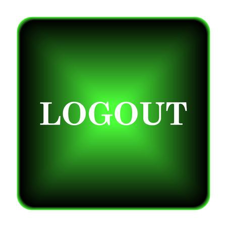 Logout icon. Internet button on white background.  photo