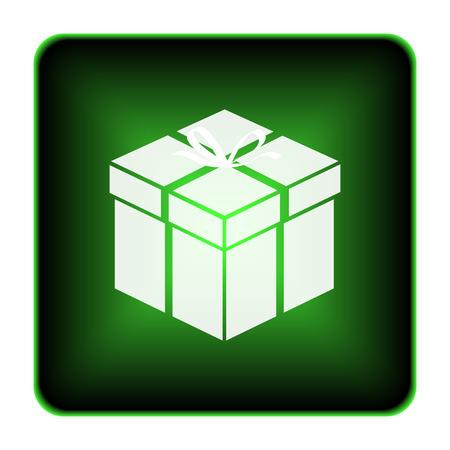 Gift icon. Internet button on white background.  photo