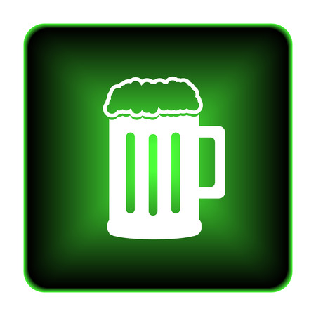 Beer icon. Internet button on white background.