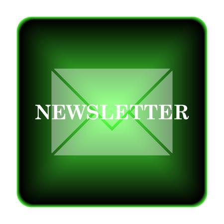 Newsletter icon. Internet button on white background.  photo