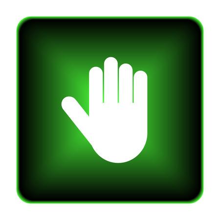 Stop icon. Internet button on white background.  photo