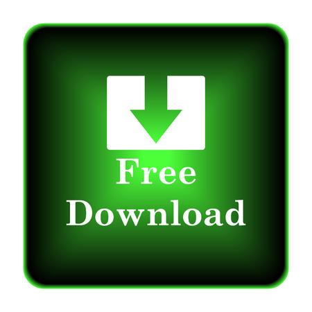 Free download icon. Internet button on white background.  photo