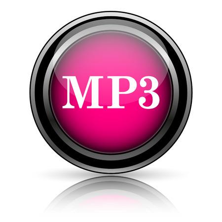 MP3 icon. Internet button on white background. photo