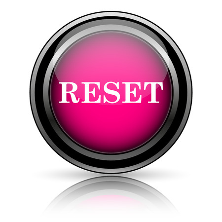 Reset icon. Internet button on white background. photo