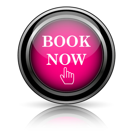 Book now icon. Internet button on white background. photo