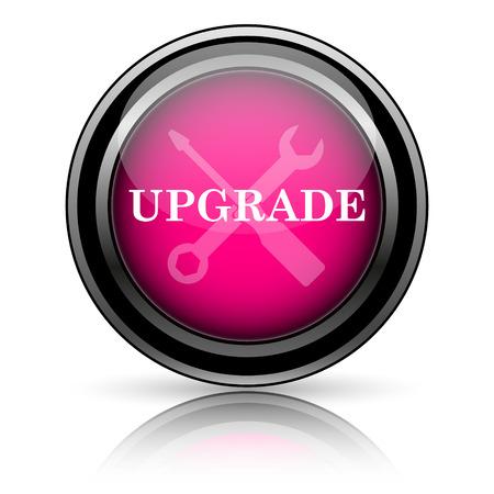 Upgrade icon. Internet button on white background. photo