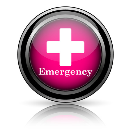 Emergency icon. Internet button on white background. photo