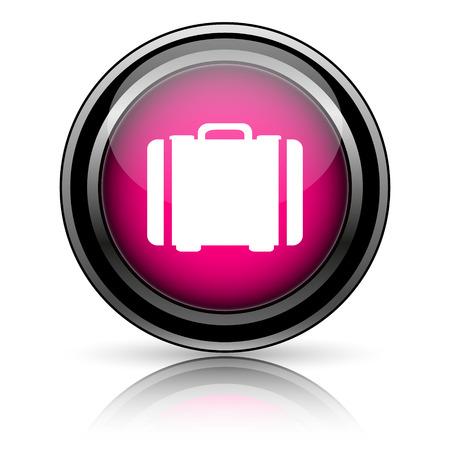 Suitcase icon. Internet button on white background. photo