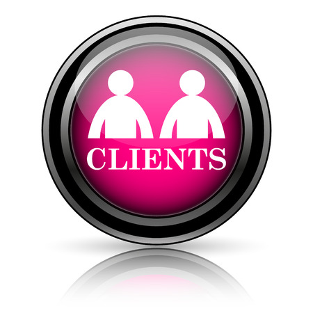 Clients icon. Internet button on white background. photo
