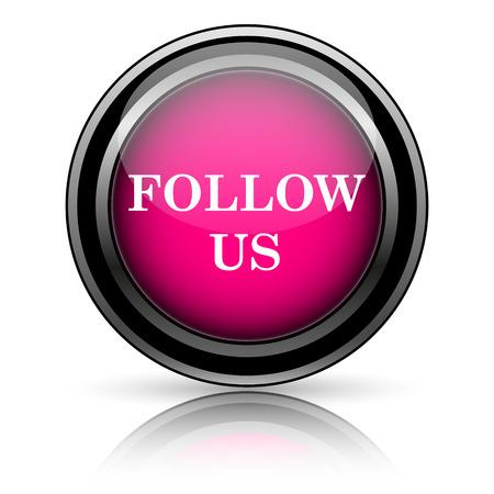 Follow us icon. Internet button on white background. photo