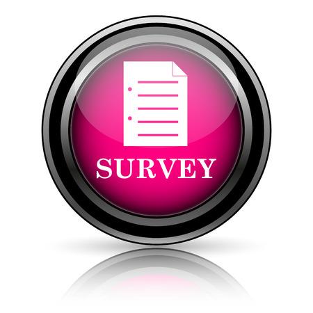 Survey icon. Internet button on white background. photo