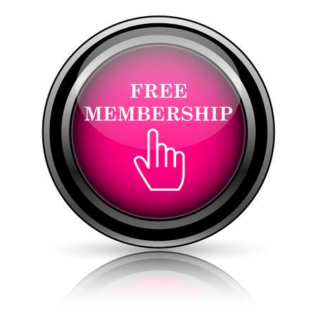 Free membership icon. Internet button on white background. photo
