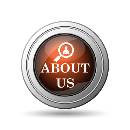 About us icon. Internet button on white background. photo
