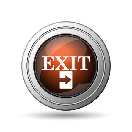 Exit icon. Internet button on white background. photo