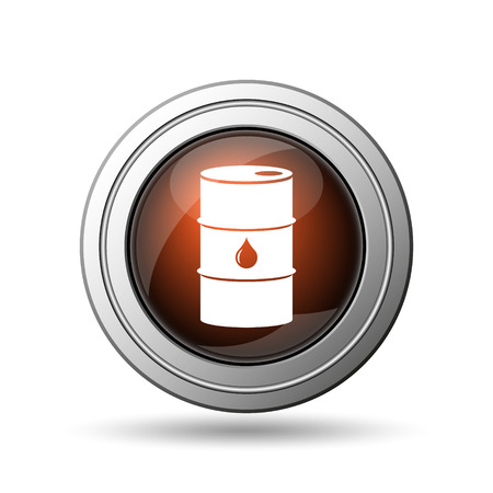 barrell: Oil barrel icon. Internet button on white background. Stock Photo