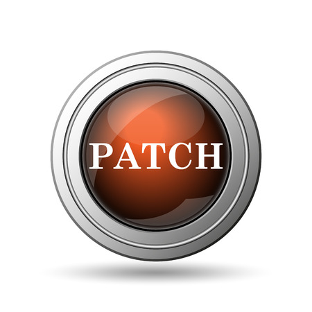 Patch icon. Internet button on white background. photo
