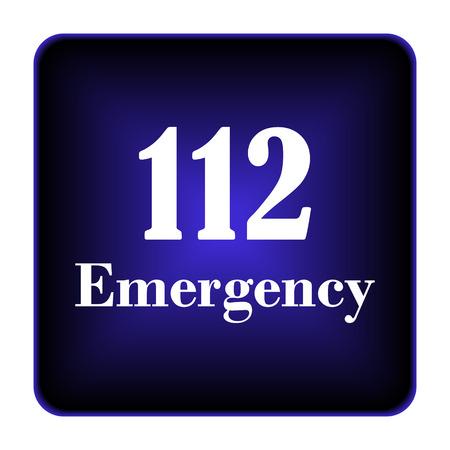 112 Emergency icon. Internet button on white background. photo