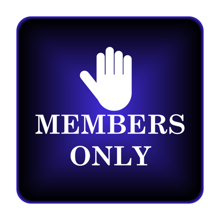 Members only icon. Internet button on white background. photo