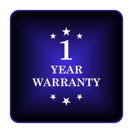 one year warranty: Upload icon. Internet button on white background. Stock Photo