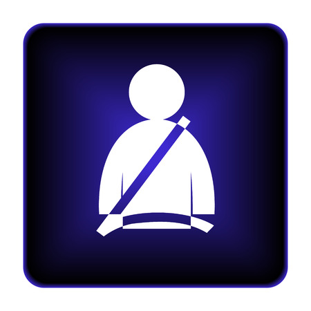 Safety belt icon. Internet button on white background. photo